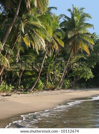 the most beautiful beach in Dominica, Batibou beach - stock photo