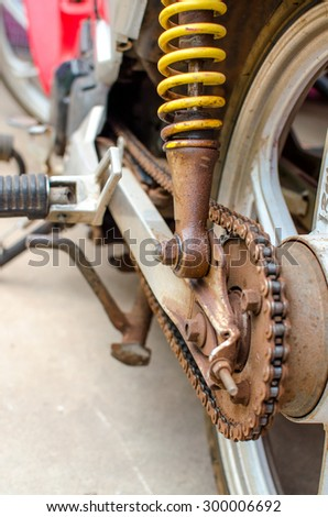 the motorcycle old is rear chain