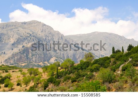 the mountain Parnassus in Greece