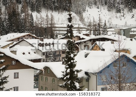 the mountain village of st anton austria
