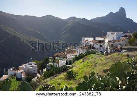 The mountain village of Tejeda in the centre of Gran Canaria, Canary islands, Spain