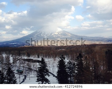 The mountain Yotei in winter season