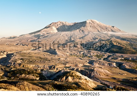 The Mt. St. Helens National Monument - stock photo