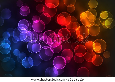 the multicolor bokeh circle background, abstract rounds - stock photo