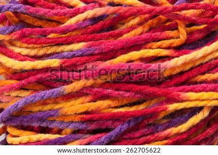 The multicolored yarn ready for knitting  - stock photo