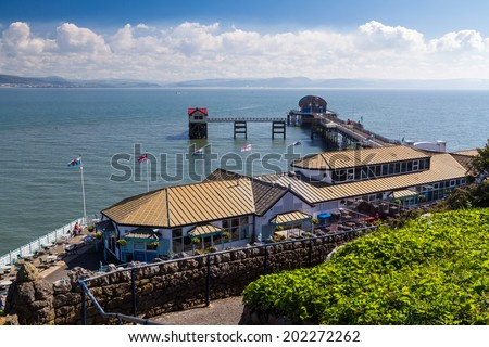 The 1898 Mumbles Pier Gower Wales UK Europe - stock photo