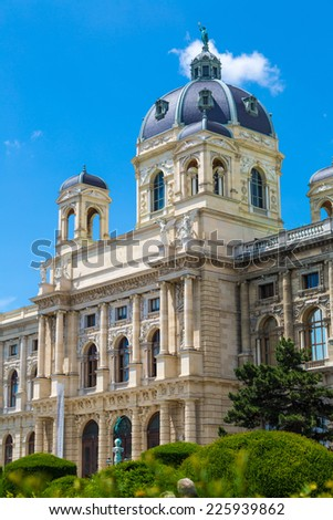 The Museum of Natural History in Vienna. View from the Maria-Theresien Place - stock photo