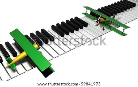 The music of flight - stock photo