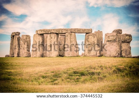 The mysterious Stonehenge - stock photo