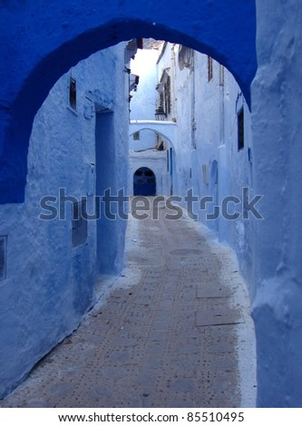 The Narrow Walkway - stock photo