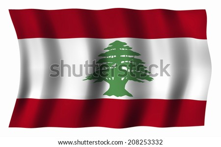 The National Flag Of Lebanon