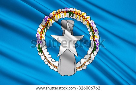 The national flag of Northern Mariana Islands (USA), Saipan - Micronesia - stock photo