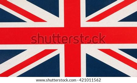 The national flag of the United Kingdom aka Union Jack - stock photo