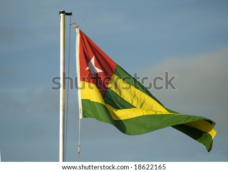 The national flag of Togo