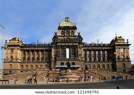 The National Museum in Prague, Czech Republic - stock photo