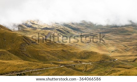 The National Park Durmitor Mountains, Montenegro, World Heritage Site by UNESCO - stock photo