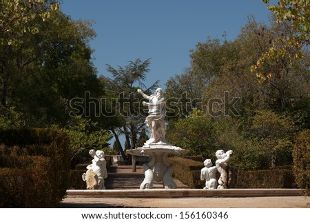 The National park in Queluz, Portugal - stock photo