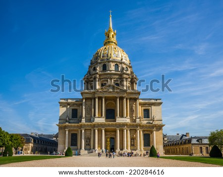 The National Residence of the Invalids (Les Invalides) of Paris, France - stock photo