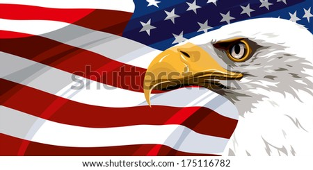 The national symbol of the United States of America - stock photo
