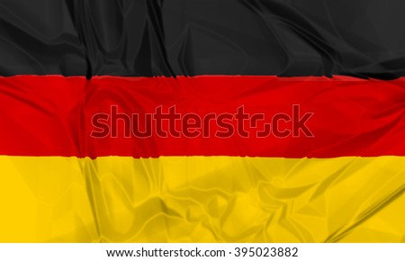 The national waving flag of Germany. black, yellow and red 3d background. - stock photo