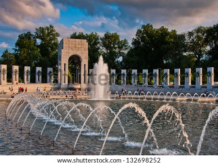 The National World War II Memorial, Washington, DC - stock photo