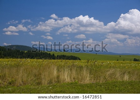 The nature park Eagle mountains in the Czech republic - stock photo