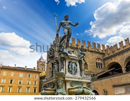 The Neptune fountain in Bologna