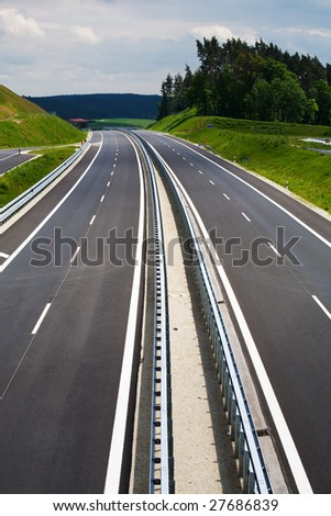 The new Autobahn in Bavaria, Germany.