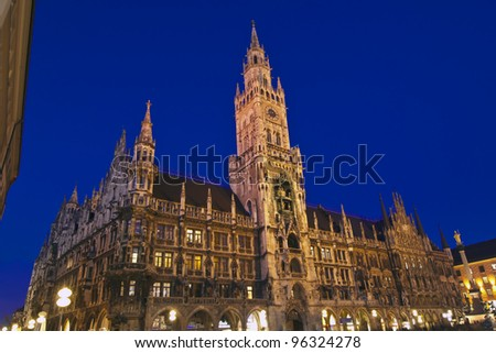 The new City Hall in Munich, Germany