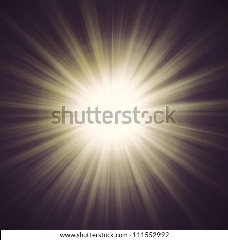 The new line of sunburst -digital high resolution - stock photo