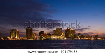 The NEW ORLEANS, LOUISIANA, USA city skyline - stock photo