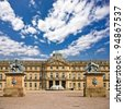 The New Palace ( Das Neue Schloss ) which stands on Schlossplatz, in Stuttgart - Germany - stock photo
