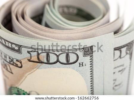 The new U.S. 100 dollar bill - stock photo