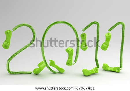 The New Year 2011  in telco business - stock photo