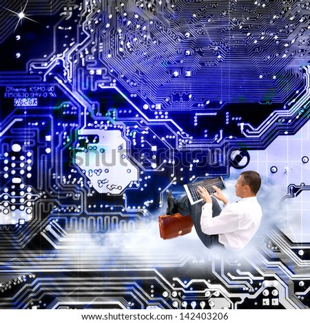 The newest Internet technologies - stock photo