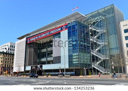 The Newseum building in Washington DC, United States - stock photo