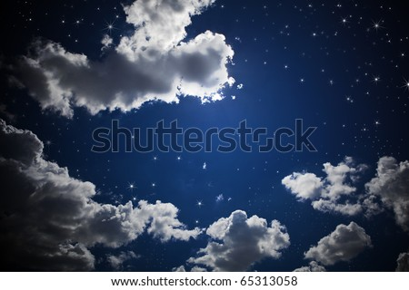 The night sky - stock photo