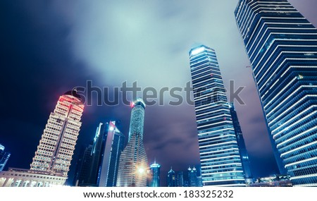 The night view of Shanghai