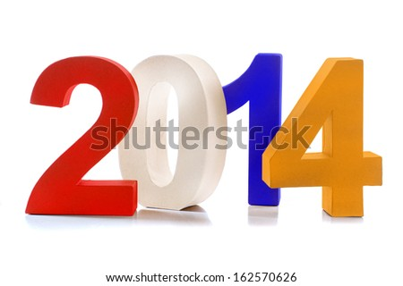 The number 2014, the year 2014, on a white background