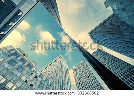 the Office building close up - stock photo