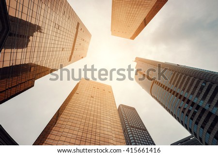 the office building in city of guangzhou,china - stock photo