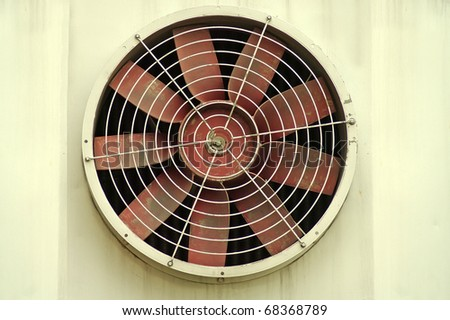 The old big industrial fan - stock photo