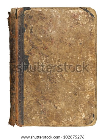 The old book, great texture, isolated on white - stock photo