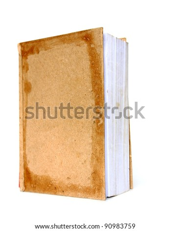 The old book on white back ground - stock photo