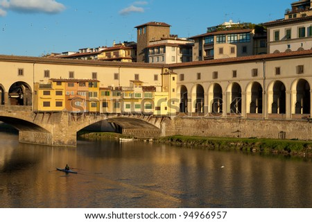 The old bridge in Florence, Italy