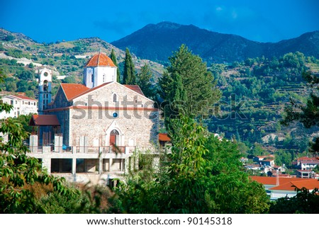 The old Church in Troodos Mountains - stock photo