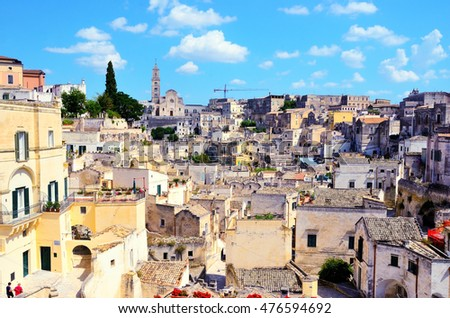 The old city of Matera in Italy.