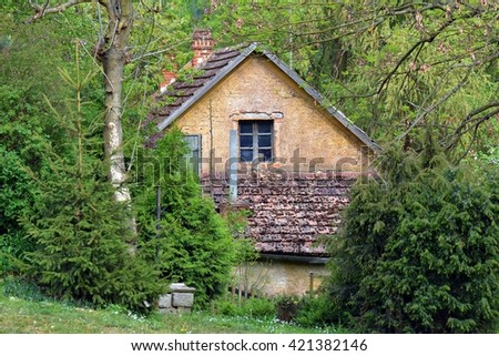 The old cottage - stock photo