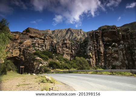 The Old English Fort in Montagu, South Africa - stock photo