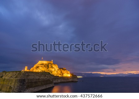The Old fortress of Corfu island Greece - stock photo